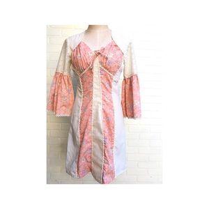 Vintage Peasant Mini Dress